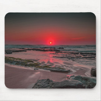 Tropical Beach Sunset Mouse Pad