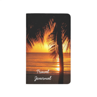 Tropical Beach Sunset Travel Journal