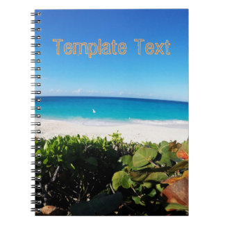 Tropical Beach   Text Template   Sunny Day Note Book