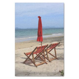 tropical beach tissue paper