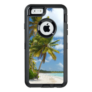 Tropical Beach Turquoise Water and Coastal Palms OtterBox Defender iPhone Case