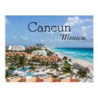 Tropical Beach Vacation Cancun Mexico Postcard