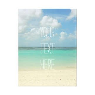 Tropical Beach Vacation Customizable Quote Canvas Print