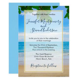 Tropical Beach Vacation Island Wedding Card