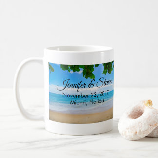 Tropical Beach Vacation Island Wedding Coffee Mug