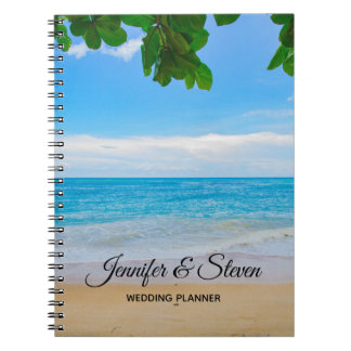 Tropical Beach Vacation Island Wedding Planner Notebook