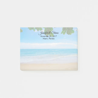 Tropical Beach Vacation Island Wedding Post-it Notes