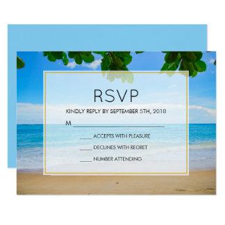 Tropical Beach Vacation Island Wedding RSVP Card