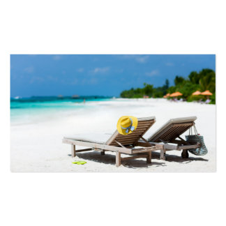 Tropical beach vacation pack of standard business cards