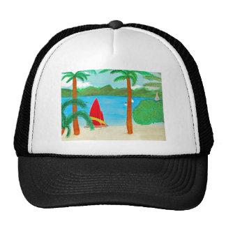 Tropical Beach View of a Virgin Island Cap