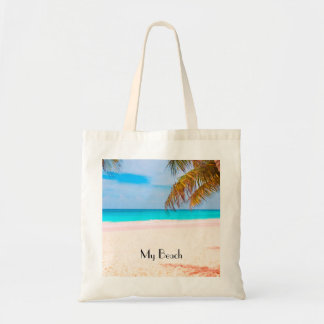 Tropical Beach View Tote Bag