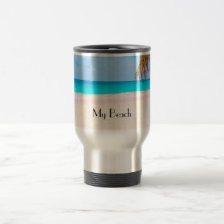 Tropical Beach View Travel Mug