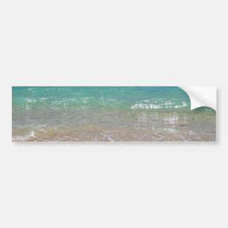 Tropical Beach - Waikiki, Oahu, Hawaii Bumper Sticker