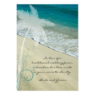 Tropical Beach Wedding Charity Favor Card Pack Of Chubby Business Cards