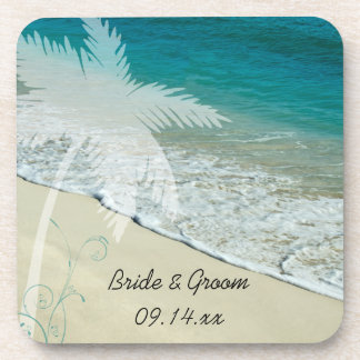 Tropical Beach Wedding Coaster