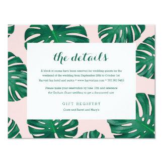Tropical Beach Wedding Details Card 11 Cm X 14 Cm Invitation Card