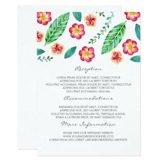 Tropical Beach Wedding Information Guest Card
