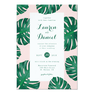 "Tropical Beach Wedding Invitation | 5"" x 7"""