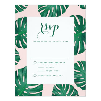 Tropical Beach Wedding RSVP Card