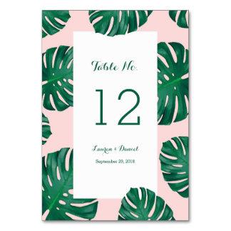 Tropical Beach Wedding Table Numbers