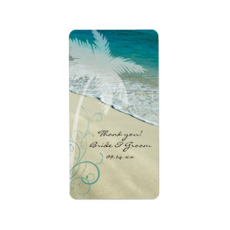 Tropical Beach Wedding Thank You Favor Tags Address Label