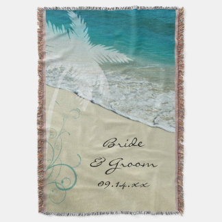 Tropical Beach Wedding Throw