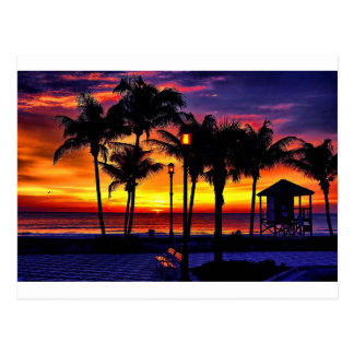 TROPICAL BEACH WISH YOU WERE HERE CUSTOM POSTCARD