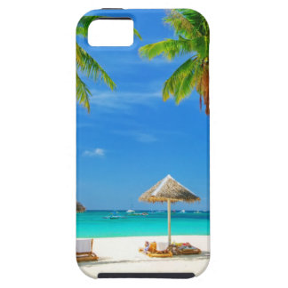 TROPICAL BEACH WISH YOU WERE HERE CUSTOM POSTCARD iPhone 5 COVERS