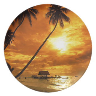 TROPICAL BEACH WISH YOU WERE HERE CUSTOM POSTCARD PLATE