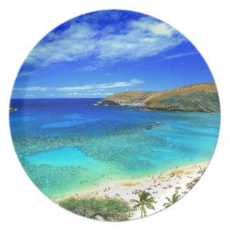 TROPICAL BEACH WISH YOU WERE HERE CUSTOM POSTCARD PLATE