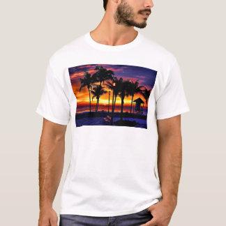 TROPICAL BEACH WISH YOU WERE HERE CUSTOM POSTCARD T-Shirt