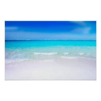 Tropical Beach with a Turquoise Sea Poster