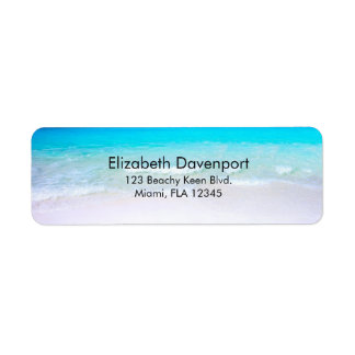 Tropical Beach with a Turquoise Sea Return Address Label