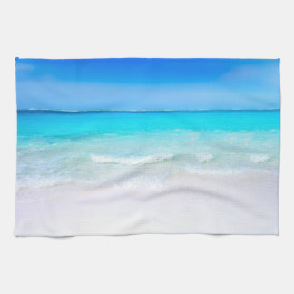 Tropical Beach with a Turquoise Sea Tea Towel