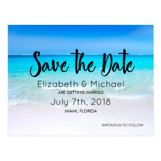 Tropical Beach with a Turquoise Sea Wedding STD Postcard