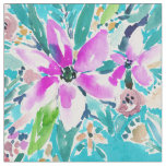 TROPICAL BENEVOLENCE Floral Watercolor Fabric
