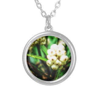 Tropical berries 2 silver plated necklace