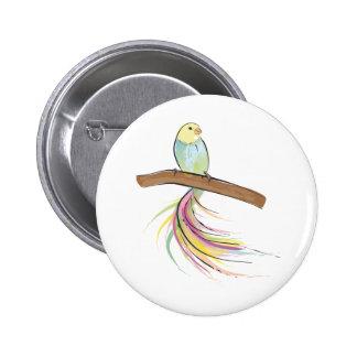 Tropical Bird 6 Cm Round Badge