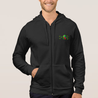 Tropical Bird and Flowers Hoodie