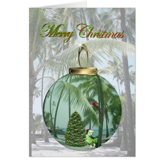 Tropical Bird Christmas Card