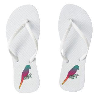 Tropical Bird Flip Flops Thongs