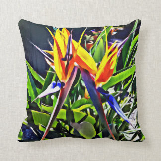 Tropical Bird of Paradise Cushion