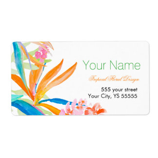 Tropical Bird of Paradise Watercolor Business