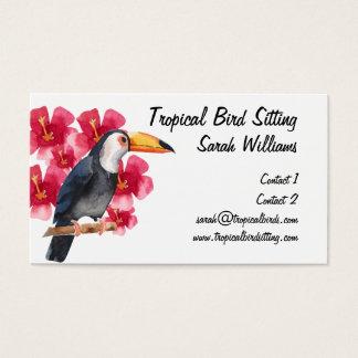 Tropical Bird Sitter Toucan Business Card