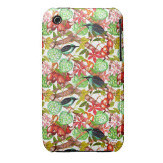 Tropical birds and Fruits II IPhone Case Case-Mate iPhone 3 Cases