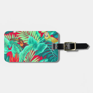 Tropical Birds background Luggage Tag