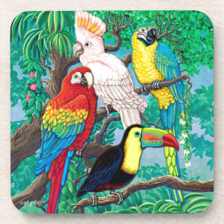Tropical Birds Coaster