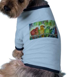 Tropical Birds Pet T Shirt