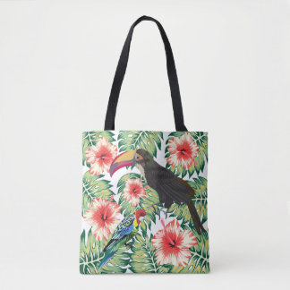 Tropical Birds of Paradise Design Series 1 Tote Bag