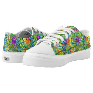 Tropical Birds on a Wire Sole Food Low Tops